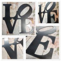 Premium LOVE letters Sign 50cm hand finished wall art steel New York broadway