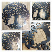 Premium CELTIC TREE of Life 50cm hand finished wall art steel Autumn family tree