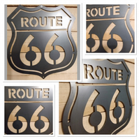 Premium ROUTE 66 road Sign 50cm hand finished wall art steel America motorcycle
