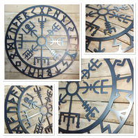 Premium Norse Viking compass Sign 50cm hand finished wall art steel symbol