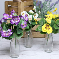 Beautiful Artificial Pansy Bush (Selected Random Assorted Colours)