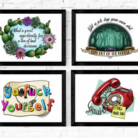 My Favorite Murder Quotes, MFM, Murderino, Tattoo Style Murder Art Prints