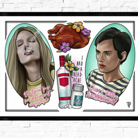 Girl Interrupted film poster, Tattoo Style Flash Sheet, A4 or A3, drama