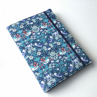 A5 sketchbook, notebook, journal, jotter with reusable Liberty fabric cover