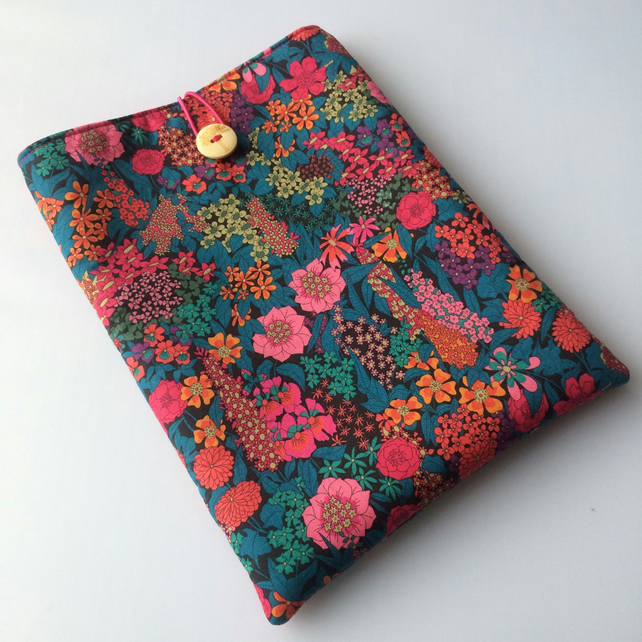 Liberty fabric book sleeve, paperback protector, book pouch, journal sleeve