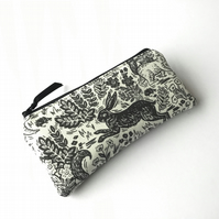 Hare fabric glasses case, spectacles case, sunglasses pouch