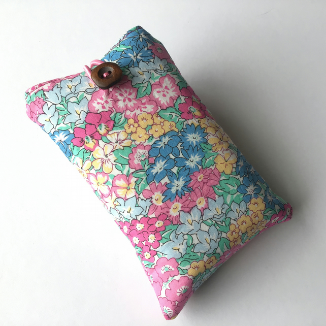 Liberty fabric tissue holder, pocket tissue case, travel tissue wallet