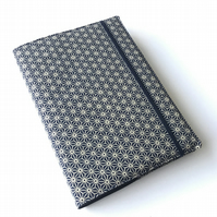 A5 sketchbook, notebook, journal, jotter with reusable Japanese fabric cover