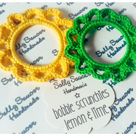 Bobble Scrunchies Lemon & Lime Set of 2