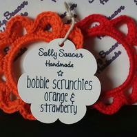 Bobble Scrunchies Orange & Strawberry Set of 2