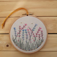 Lavender Hand Embroidered Wall Art