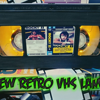 Retro VHS Lamp,Rocky 2 Boxing .Night Light Stunning Collectable, Top Quality!