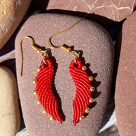 Macrame Angel Wing Earrings.