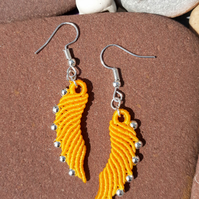 Macrame Angel Wing Earrings