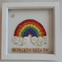 RAINBOW BUTTON ART - PERSONALISED