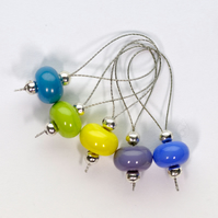 Lampwork Stitch Markers - Colourful Crayons 1