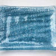 Hand made Soap Dish - Fused Glass