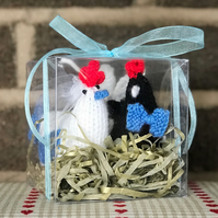 Bride and Groom chicken egg cosy gift set
