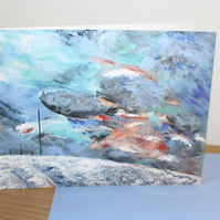 Stormy Winter Hill fine art card