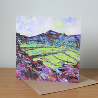 Fresh Fields -  Contemporary Fine Art Greetings Card