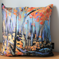 Autumn Woods - Contemporary Fine Art Cushion Cover