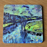 River Reflections - Contemporary Fine Art Coaster