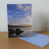 Peaceful Lake - portrait - card