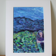 'After Bilberry-Picking' original painting
