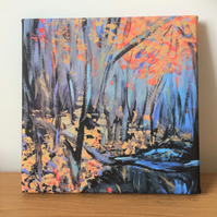 Autumn Woods- Contemporary Fine Art Canvas Print
