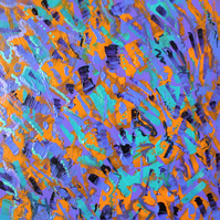 Abstract Crocus Pop Panel