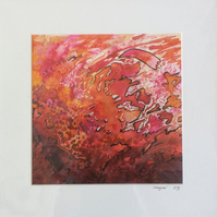 Magma Abstract Watercolour Painting