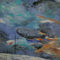 Stormy Winter Hill Fine Art Print