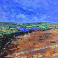 Rivington View Lancashire - Original Acrylic Painting