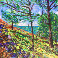 Windswept Trees at White Coppice - Original Acrylic Painting