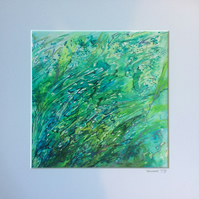 Seaweeds - original watercolour and acrylic ink painting