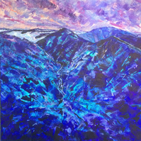 Lake District Valley Contemporary Original Painting