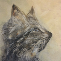 'Koshka' - Cat Fine Art Print and Card