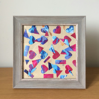 Handmade with Love Framed Original Heart Art 004