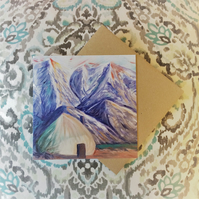 Cosy Yurt - Fine Art Card