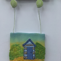 Seaside Beach Hut Days 4- free embroidery and appliqué OOAK