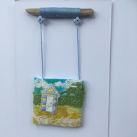Seaside Beach Hut Days 5- free embroidery and appliqué OOAK