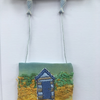 Seaside Beach Hut Days 2 - free embroidery and appliqué OOAK