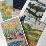 Greetings Cards - blank inside - prints of original artwork by Donna Cheshire