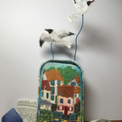 Seagull Village - Textile Art in a Tin!
