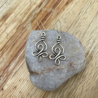 Celtic knot earrings on sterling silver hooks