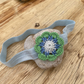 Girl's stretch flower hairband headband in blue