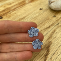 Lilac flower earrings on hypoallergenic surgical steel studs