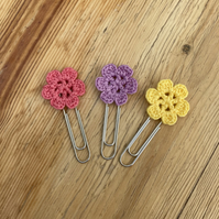 Set of 3 planner clips in pink, lilac, yellow