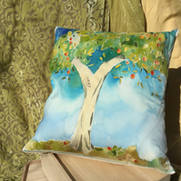Peach Tree cushion