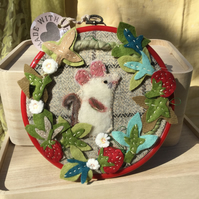 Mary-Jane mouse in summer wall-hanging
